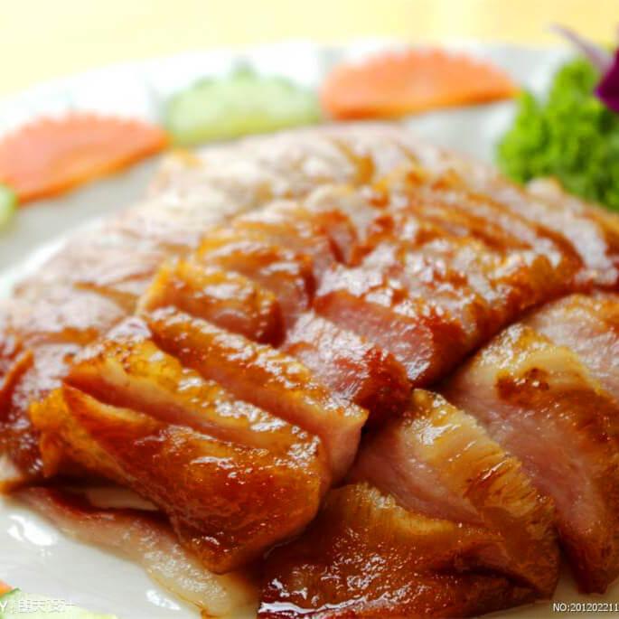 美味可口的香卤猪颈肉