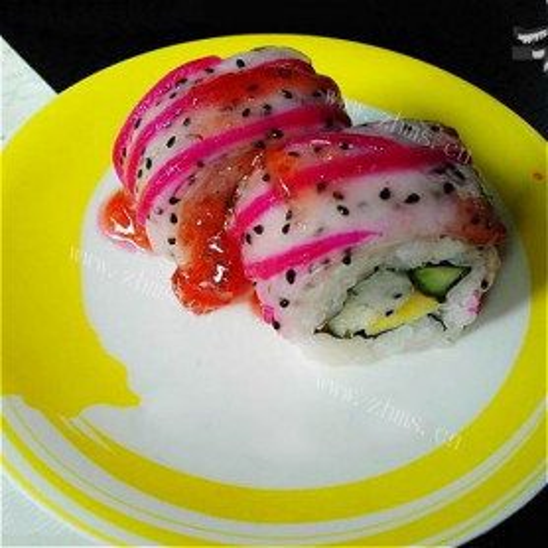 特色火龙果皮寿司