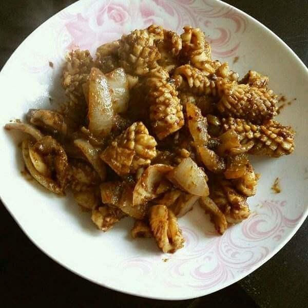 杂蔬烤鱿鱼