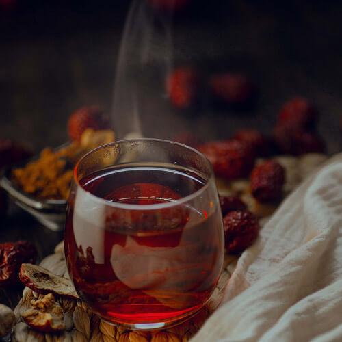 姜枣茶汤圆