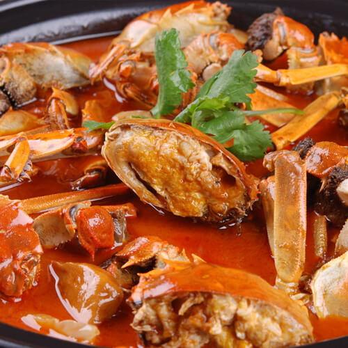 美味的豆腐西葫芦海蟹煲
