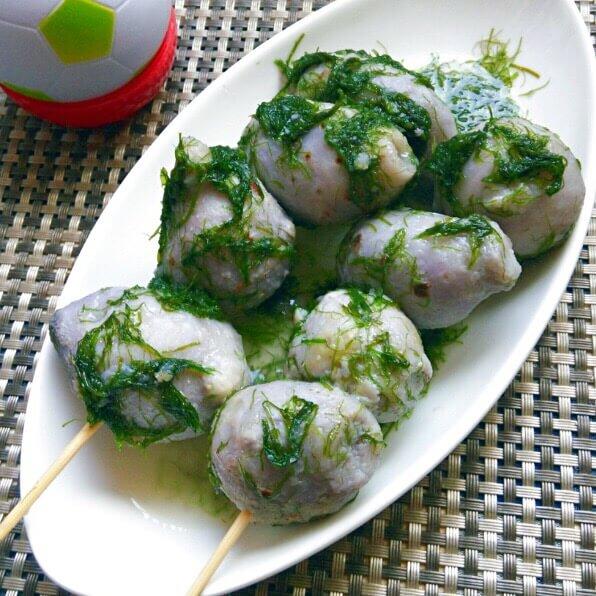好吃的的苔条芋艿串