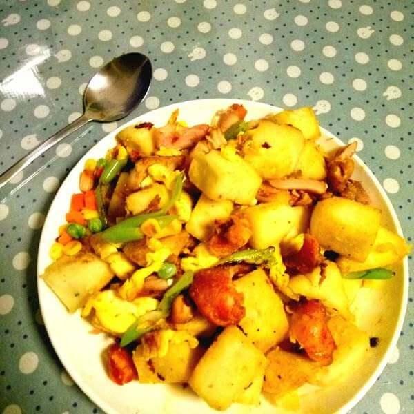 鸡蛋西红柿炒馒头