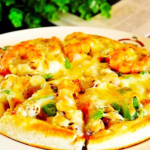 裙边蘑菇鲜虾披萨