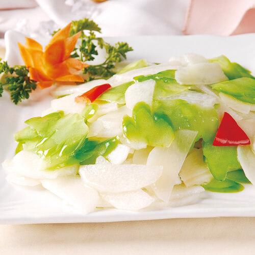 雪菜蚕豆炒山药