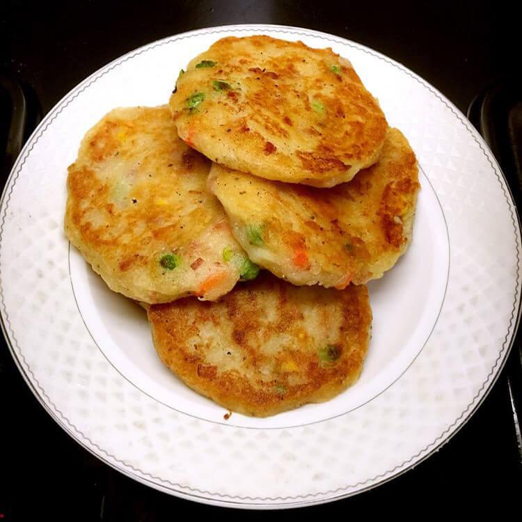 草豆培根饼