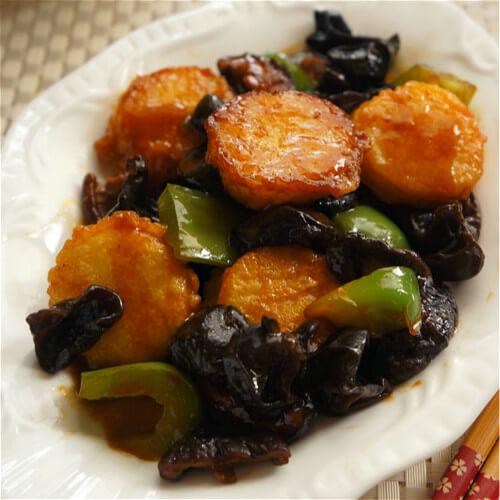 健康美食之蚝油香菇玉子豆腐