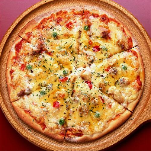 土豆火腿番茄披萨