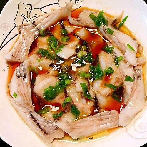 好吃的油榄豉豆腐蒸鱼片