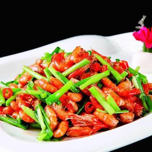 韭黄炒小河虾