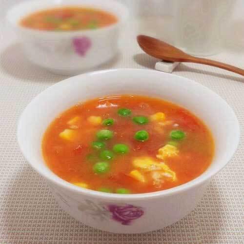 番茄豌豆汤