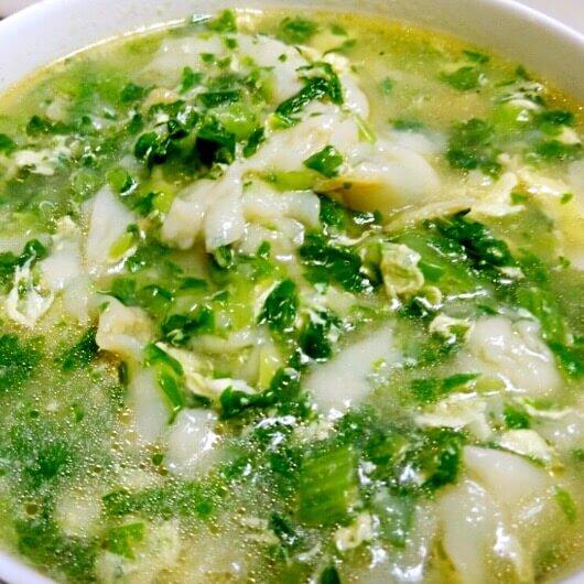 小白菜片面汤