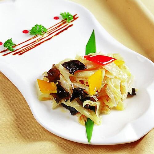 木耳腐竹炒肉片
