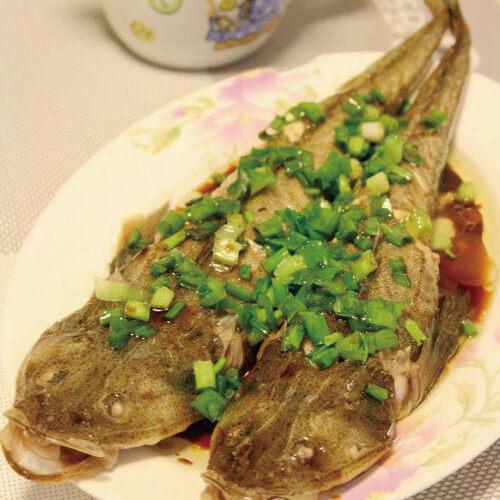 美味的清蒸淡甲鱼