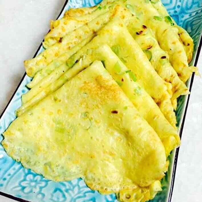 瓜皮脆衣鸡蛋饼