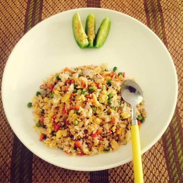 虾皮豌豆蛋炒饭