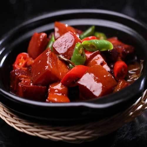 美味的豆角干红烧肉