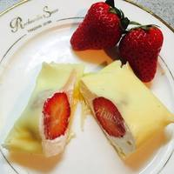 美味的草莓炼乳椰蓉奶糕