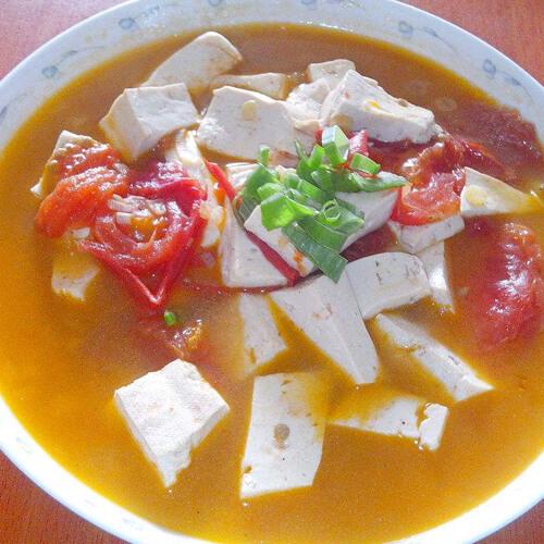 番茄豆腐核桃汤