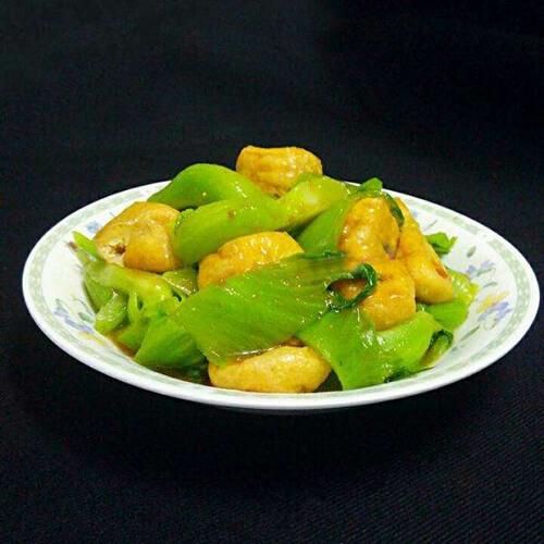 豆泡炒青菜