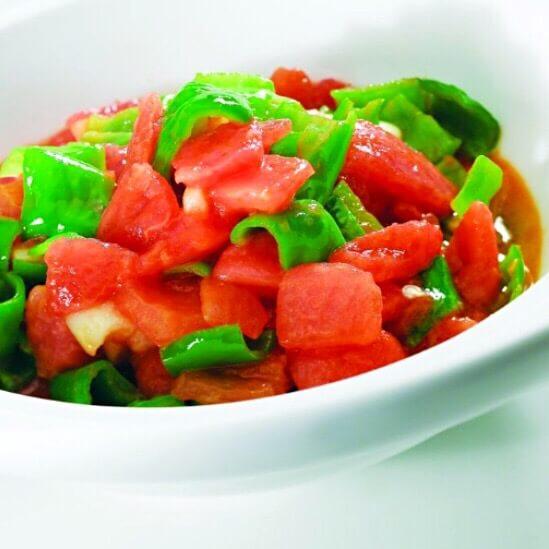 青椒片炒番茄