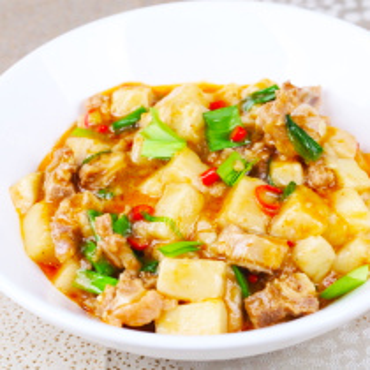 牛板筋炖豆腐