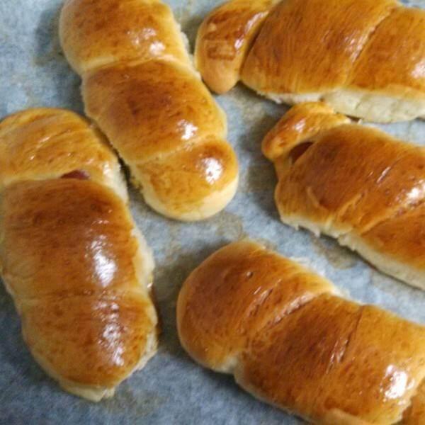 南瓜核桃果干面包卷