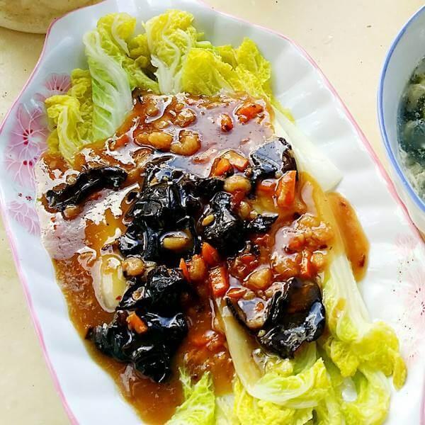 #爱美食#三菇绘娃娃菜