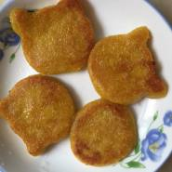 紫薯馅糯米南瓜饼