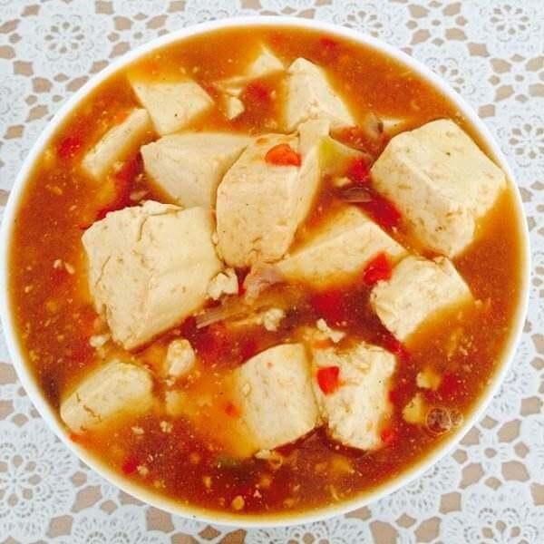 红椒末焖豆腐