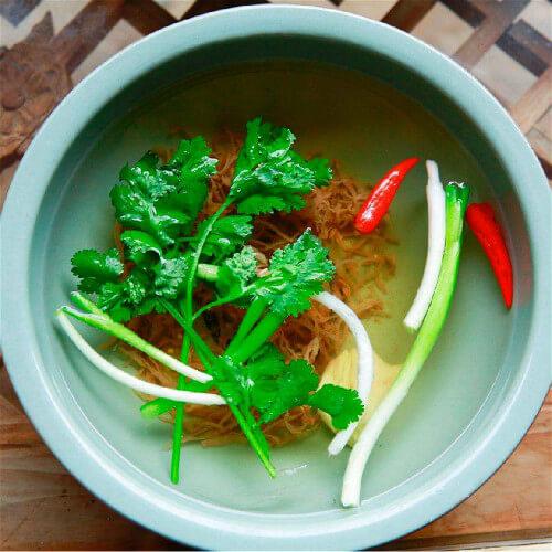 花菜青菜叶汤