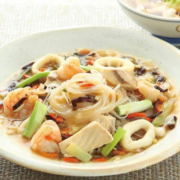 家庭版海鲜烩素菜