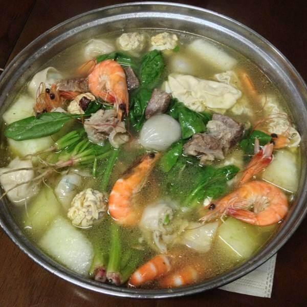 小河虾毛豆子冬瓜汤