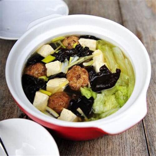 丸子烩豆腐