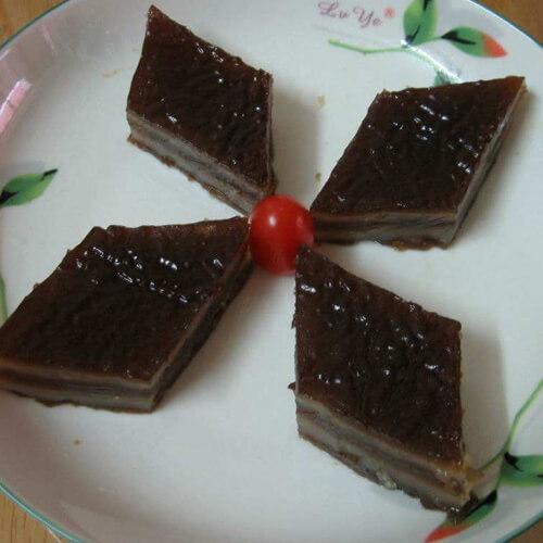 黑芝麻马蹄糕
