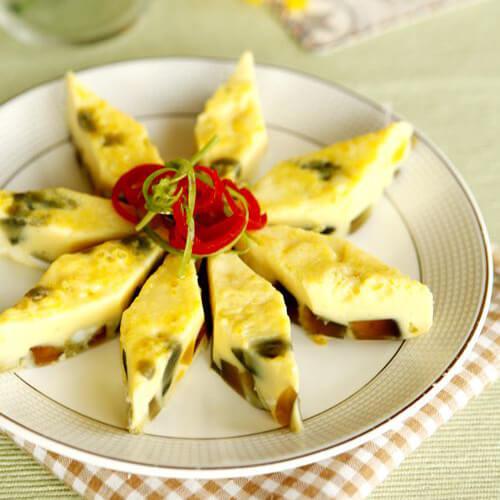 木瓜椰香奶蒸蛋