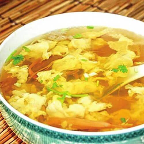 黄花菜鸭蛋汤
