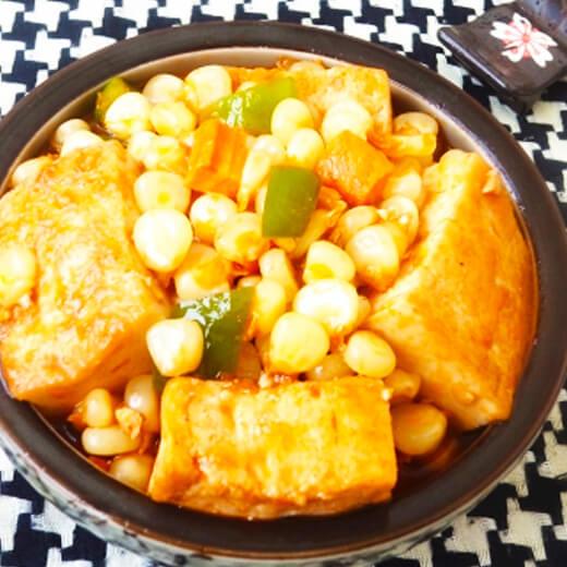 肉丁玉米烧豆腐