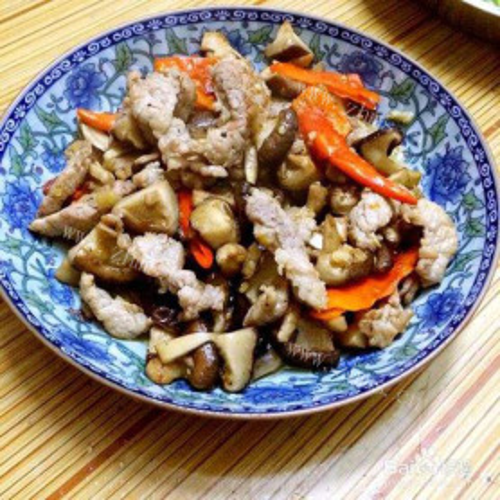 秀珍菇炒瘦肉