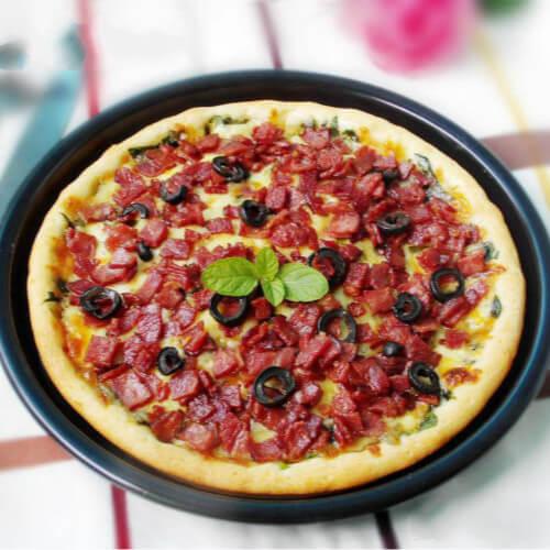 菠菜海鲜披萨