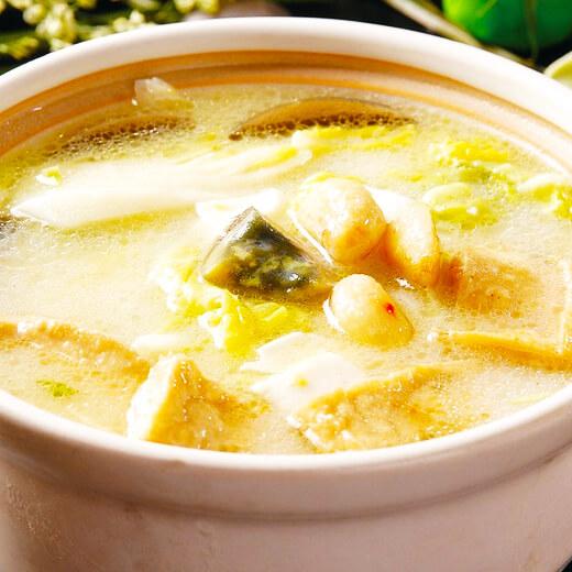 嫩豆腐白菜汤