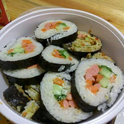 好吃的土豆鸡蛋寿司