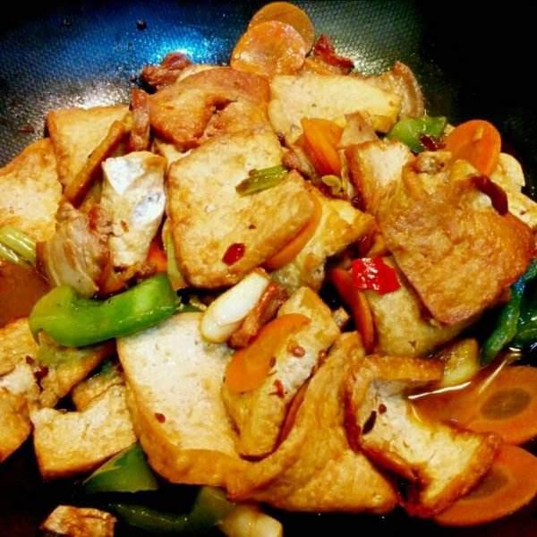 芒果煎豆腐