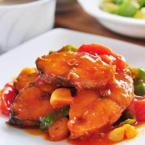 番茄烧鲅鱼