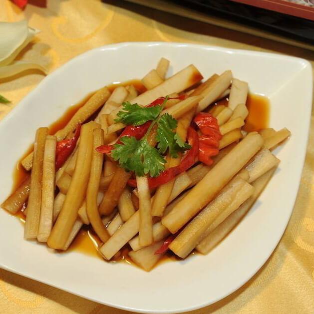 好吃的韩式爽脆萝卜条