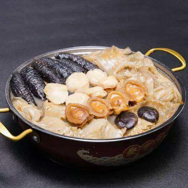 鲜蛤海参汤