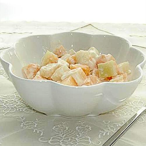纯白水果沙拉
