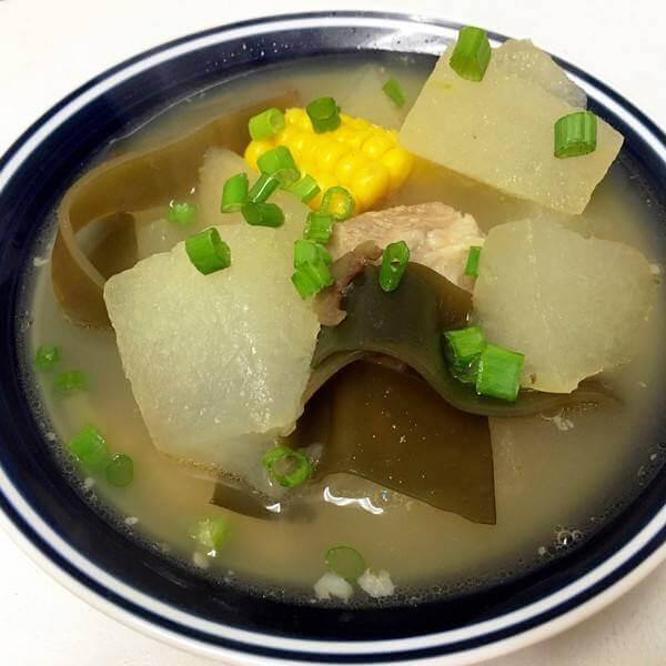 好喝的冬瓜小排海带汤