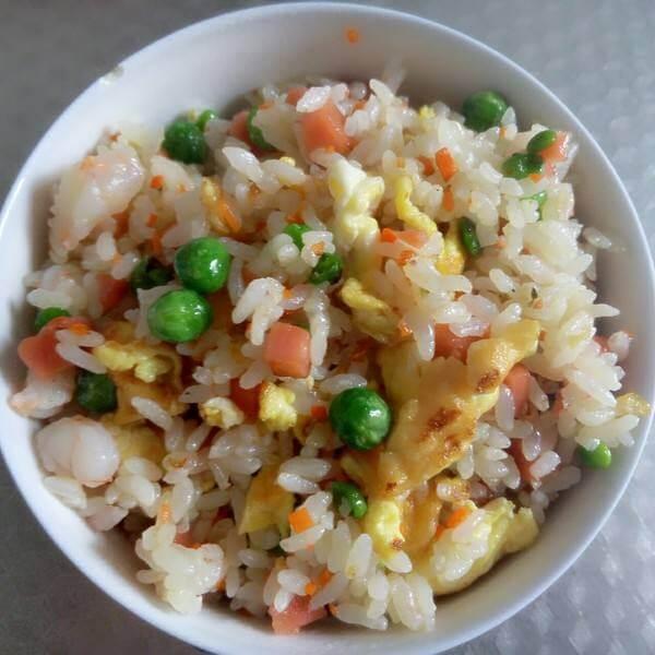 肉丝虾仁炒饭