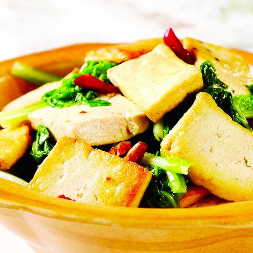 小白菜土豆烧豆腐